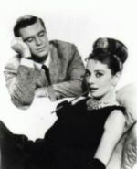 Avec George Peppard dans Breakfast at Tiffany's